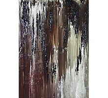 Brown Black Abstract Painting Photographic Print