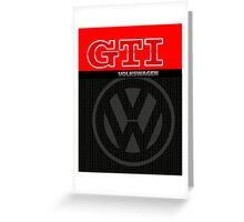 Volkswagen GTI Graphic Design Greeting Card