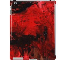 Red Black Abstract Painting iPad Case/Skin