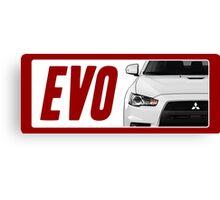 Mitsubishi Evolution (EVO) Logo [White Transparent] Canvas Print