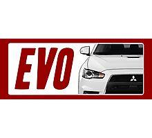 Mitsubishi Evolution (EVO) Logo [White Transparent] Photographic Print