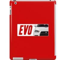 Mitsubishi Evolution (EVO) Logo [White Transparent] iPad Case/Skin