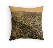 Vintage Pictorial Map of Hot Springs AR (1888) Throw Pillow