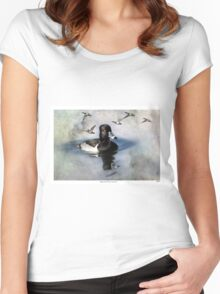 Ring-necked Ducks: Comrades Women's Fitted Scoop T-Shirt