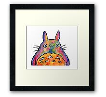 Cute Colorful Totoro! Tshirts + more! Jonny2may Framed Print