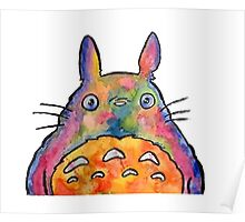 Cute Colorful Totoro! Tshirts + more! Poster