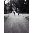 Sisters Cycling  by Evelynhavinga