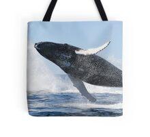 Humpback Whale Jumping High Tote Bag