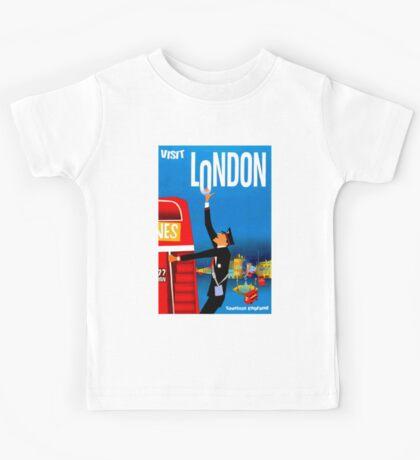 """VISIT LONDON"" Vintage Travel Advertising Print Kids Tee"