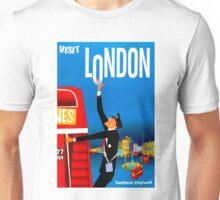 """VISIT LONDON"" Vintage Travel Advertising Print Unisex T-Shirt"