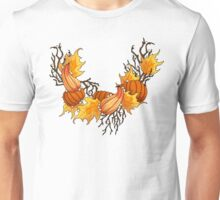 Autumn Pearls on White Unisex T-Shirt