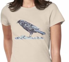 Crow as a Spirit guide Womens Fitted T-Shirt