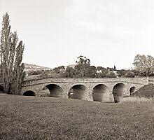 Richmond Bridge—Black and White by Brett Rogers