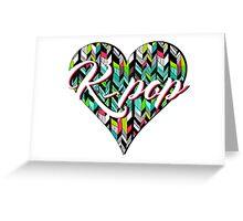 K-Pop Greeting Card