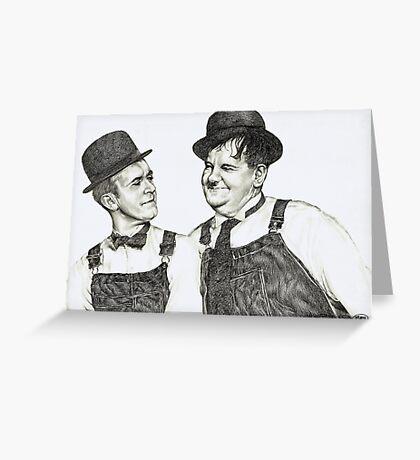 'Tell me that again Ollie' Greeting Card