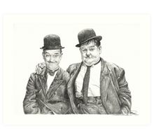 Mr Laurel & Mr Hardy Art Print