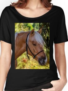 Beautiful Palomino Enjoying Some Shade On A Hot Day Women's Relaxed Fit T-Shirt