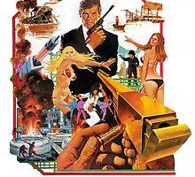 Roger Moore as James Bond by violetraymedia