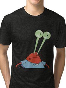 Mr. Krabs Big Eyes Tri-blend T-Shirt