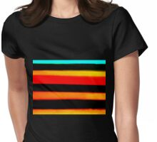 PAINT TEST COLORS Womens Fitted T-Shirt