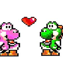yoshi couple pixel art by Celticers