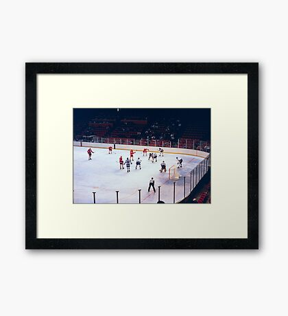 Vintage Ice Hockey Match Framed Print
