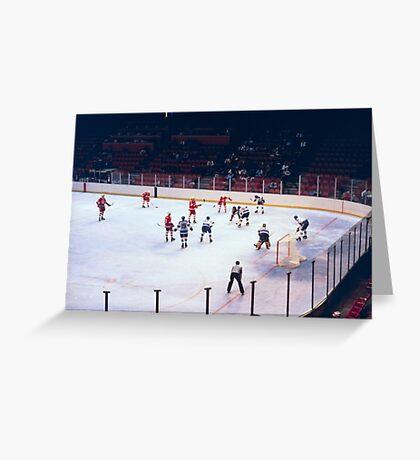 Vintage Ice Hockey Match Greeting Card