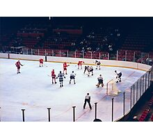 Vintage Ice Hockey Match Photographic Print