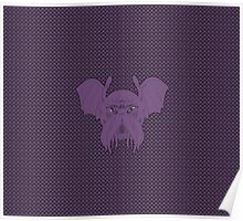 Cthulhu leech, eldritch purple version with background Poster