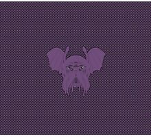 Cthulhu leech, eldritch purple version with background Photographic Print