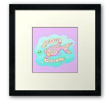 Tiny Angler  Framed Print