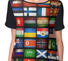 All National Flags  Chiffon Top