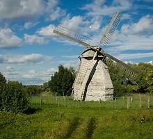Wooden Windmill by Sue Martin