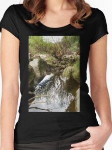 Reflections in a pool. Women's Fitted Scoop T-Shirt
