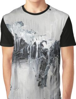 Black White Abstract Art Graphic T-Shirt