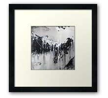 Black White Abstract Art Framed Print
