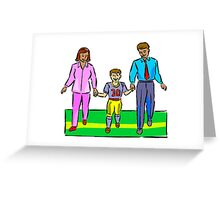 Kids Football Family Greeting Card