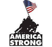 AMERICA STRONG Photographic Print