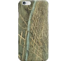 Vintage Pictorial Map of Iowa City (1868) iPhone Case/Skin