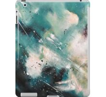 Teal Black Abstract Painting iPad Case/Skin