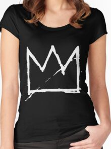 Crown (White) Women's Fitted Scoop T-Shirt