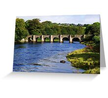 Castle Bridge, Buncrana Greeting Card