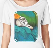 Blue and Gold Macaw Women's Relaxed Fit T-Shirt