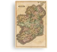Vintage Map of Ireland (1831) Canvas Print