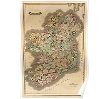 Vintage Map of Ireland (1831) Poster