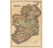 Vintage Map of Ireland (1831) Photographic Print