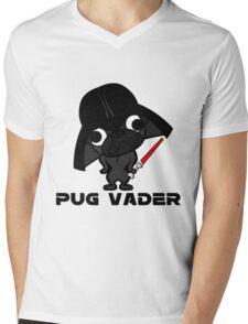 Pug Vader (black) Mens V-Neck T-Shirt
