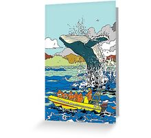 Jumping Whale Greeting Card