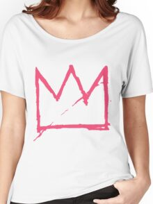 Crown (Pink) Women's Relaxed Fit T-Shirt
