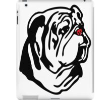 Bulldog Zebra Red Nose iPad Case/Skin